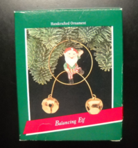 Hallmark Keepsake Christmas Ornament 1989 Balancing Elf Jingle Bells Boxed - $7.99