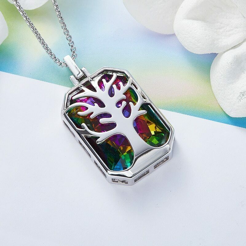 Primary image for Women Swarovski crystals Pendant Necklace Jewelry Vintage Gifts COLORFUL