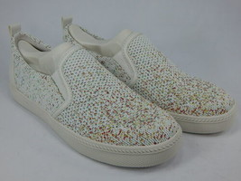 Earth Zen Groove Size US 7 M EU 39 Women's Knit Perforated Slip-On Shoes White - $47.47