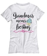 Grandmas Are Like Moms With Extra Frosting -Women's TShirt Mothers Day N... - $20.78