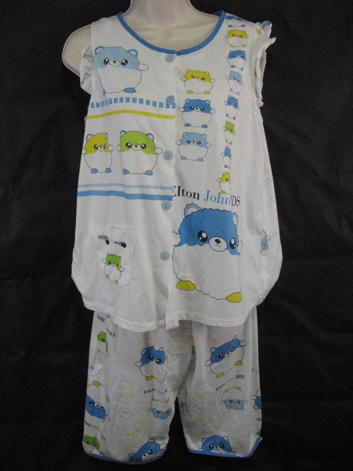 Elton John Aids Foundation Pajamas Small Cute Baby doll Two Piece