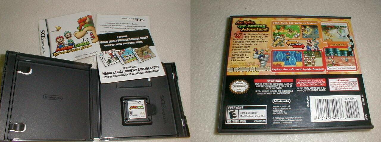 Nintendo DS mario luigi bowser's inside Story VG tested 2009 complete image 2