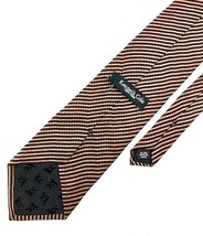 New Kenneth Cole New York Tie Brown & Burgundy Stripe Silk Men's Neck Tie - $13.95