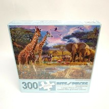 Bits and Pieces 300 Large Piece Puzzle Savannah Animals 18 x 24 NEW Sealed 41872 - $18.95