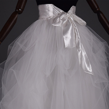 WHITE Detachable Tulle Skirt White Tulle Bridal Skirt High Waisted Wedding Skirt image 4