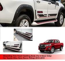 White Body Cladding Cover For Toyota Hilux Revo Rocco 2018 2019 - $268.03