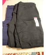 Hanes Youth XL (14-16) Sweats 1 Blue, 2 Black, Open leg - $22.31