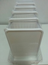 Silicook Refrigerator Food Storage Containers with Tray Kitchen Organizer Set image 7