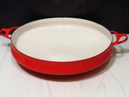 Vintage MCM Large Vintage Dansk Kobenstyle Red Enamel Paella Pan Denmark... - $43.56