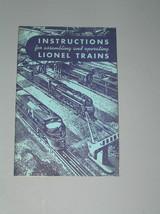 1949 LIONEL TRAINS SET INSTRUCTION MANUAL - $17.99