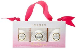 LALICIOUS Velour Body Melt Gift Set - 3-Piece Gel-to-Oil Moisturizer Kit with Ma