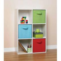 Storage Display 6 Cube Book Shelf White Finish Genuine Laminated Wood Or... - $833,08 MXN