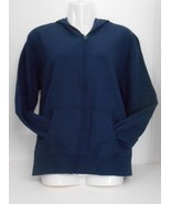 New w/o Tag~Hanes~Navy Blue~Cotton/Poly Soft Fleece Zip up Hoodie~Sz M/ ... - $10.95