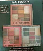 New LA Colors The Vault: Eye Shadow Palettes Gift Set, 3 X 10 Color Pale... - $14.46