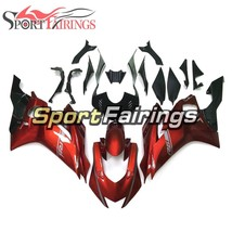 Red Sliver Fairings For Yamaha YZF-600 R6 2017 Hulls Bodywork ABS Inject... - $451.59