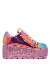 Pink Mermaid Lala Adult YRU Womens Purple Platform Shoe Sneaker Hologram qfPxw5Ex