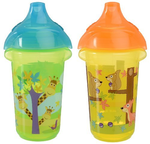 Munchkin Click Lock Sippy Cup, Giraffe/Forest, 9 Ounce, 2 Count