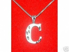 SALE Letter C Sterling Silver 925 Pendant Charm Jewelry Initial Diamond ... - $20.16