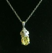 Yellow Swarovski Crystal, Smoky Quartz Sterling Silver Elephant Pendant - $18.99