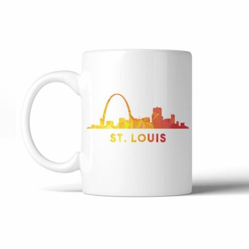 365 Printing Polygon Skyline Multicolor Downtown White Mug image 5