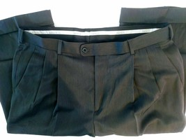 Perry Ellis Men's Pants 34X30 100% Polyester Classic Fit Black - $18.31