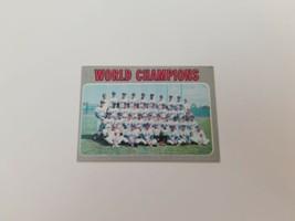 1970 Topps World Champions New York Mets Baseball Card #1 Ex No Creases - $9.74