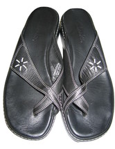 Clarks Leather SANDALS Black Womens Shoes size 8 - $18.80
