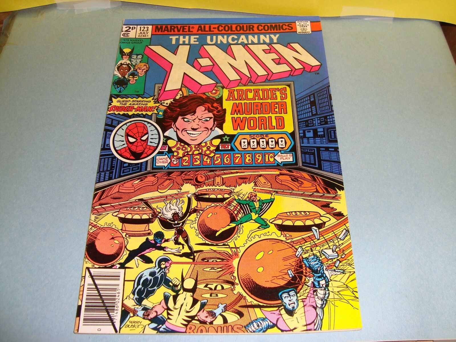 Uncanny X-Men #123 Original Marvel Comic Book from 1979 Spider-Man / Storm VF