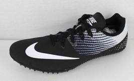 Nike Uomo Zoom Rivale Pista Picchi Bianco Nero da Corsa Sprint Taglia - $31.16