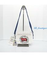 NWT Kipling KI5433 Abanu Small Crossbody Bag Nylon Keith Haring Public Art Multi - $88.95