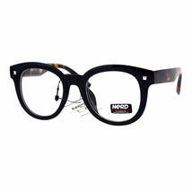 Womens Clear Lens Glasses Round Horn Rim Oversized Fashion Eyeglasses - $9.95