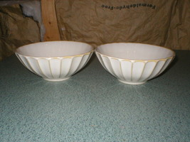 "2 Sango Ribbed SOCIETY-WHITE 7 1/4"" Diameter x 3"" Tall Soup Cereal Bowls 4704 - $10.78"