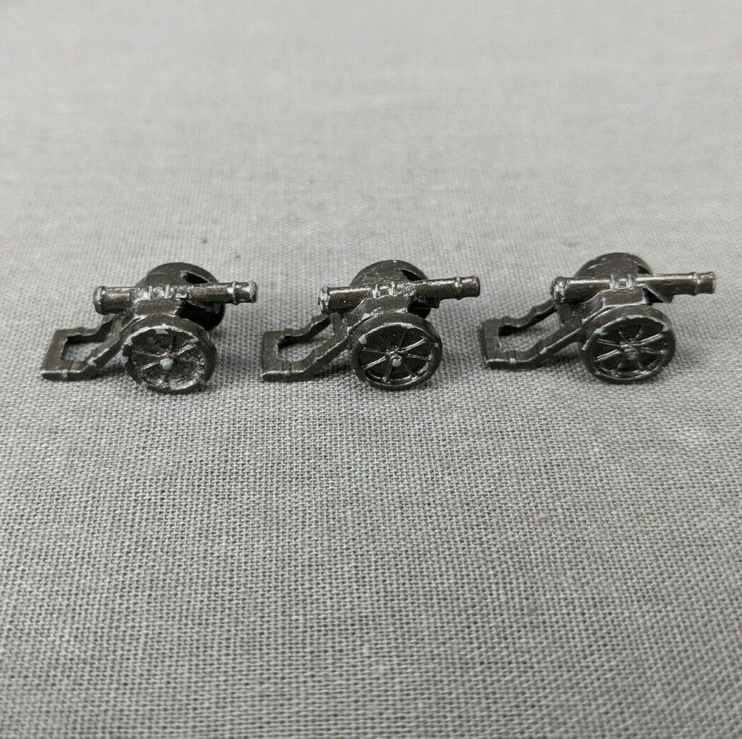 Primary image for Risk 40th Anniversary Edition Board Game Metal Cannons 3 Pieces Black Army