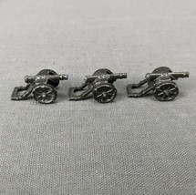 Risk 40th Anniversary Edition Board Game Metal Cannons 3 Pieces Black Army - $6.85