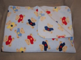 "Target Circo ~Baby Blanket Fleece~ Light Blue Red Teddy Bear Sherpa 40"" ... - $442,02 MXN"