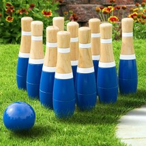 Wooden Lawn Bowling Set Kids Family Yard Play Games Outdoor Garden Funny... - $58.60