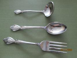 International Lyons Queens Fancy set of 3  serving pieces gravy spoon fork - $19.75
