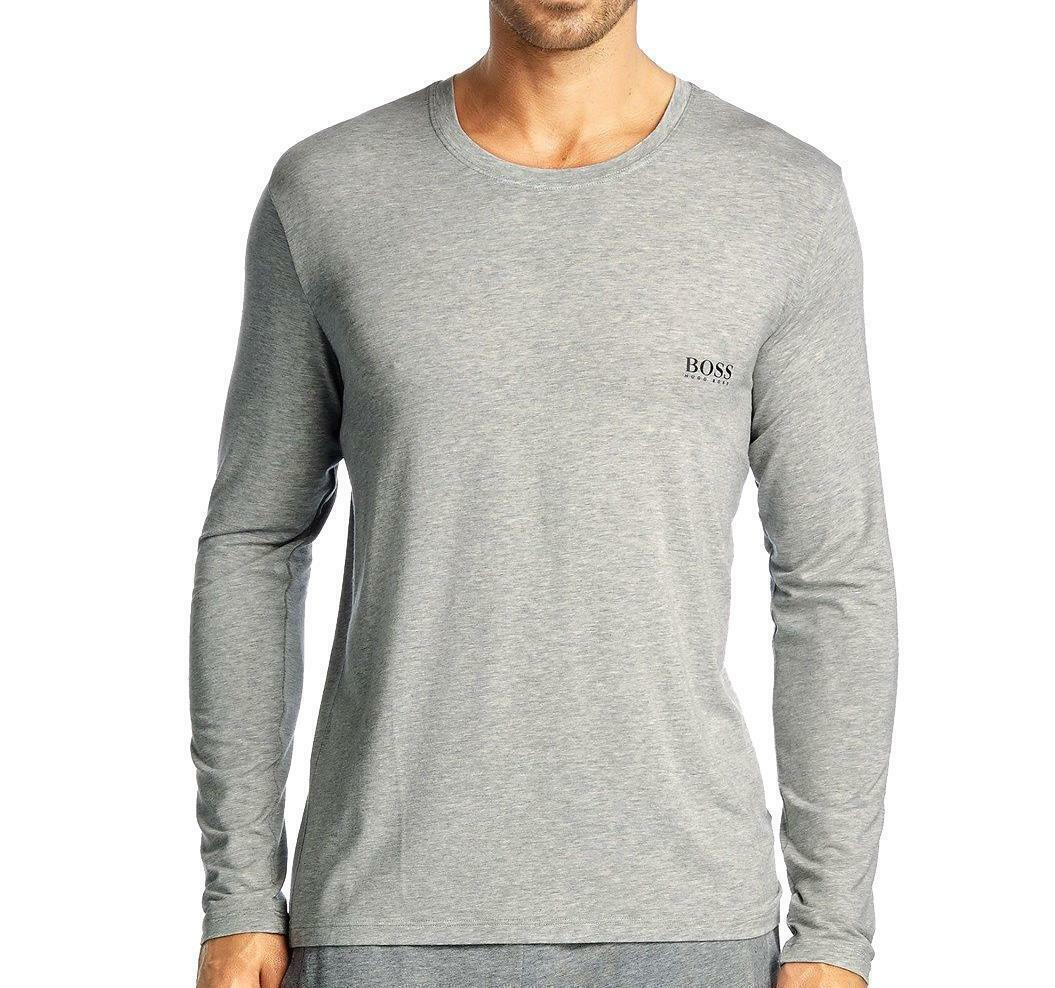Hugo Boss Men's Modal Long Sleeve Pajama Top Loungewear Shirt Gray 50188508