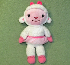 "15"" TALKING LAMBIE Doc McStuffins Plush Stuffed RATTLE Lamb Pink TuTu DI... - $16.83"