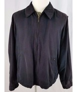 Gary Player Mens Golf Jacket Sueded Black Microfiber Size XL Zip Front GUC - $39.59