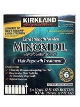 Kirkland Minoxidil 5 percent Extra Strength Hair Regrowth for Men, 2 Fl Oz, 6 Co