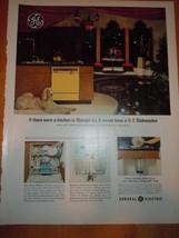 Vintage General Electric Dishwasher Print Magazine Advertisement 1965 - $5.99