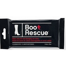 BootRescue Leather Fabric Rubber Suede Wipes Resealable package with 15 ... - $5.99