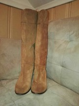 lucky  brand wedge tan tall boots - $42.08