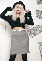 90s vintage houndstooth zip skirt - $34.36