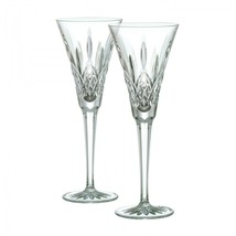 WATERFORD Lismore Classic Toasting Flute Pair Brand New #107608 - $126.23