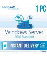 Microsoft Windows Server 2016 Standard 64Bit Digital Delivery Sever2016s... - $29.99