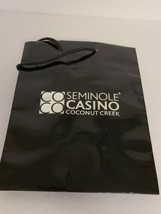 Vintage Seminole Casino Coconut Creek 7.5 x 9.5 Black Pre-Owned Gift Bag... - $15.00