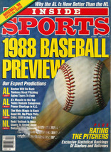April, 1988 Inside Sports Baseball Yankees Red Sox Mets Twins Issue Maga... - $4.94