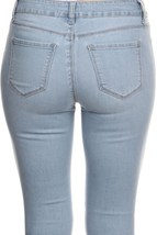 Womens Skinny Jeans / Womens Stretch Jeans / Stretch Skinny Jeans / Light Wash image 5